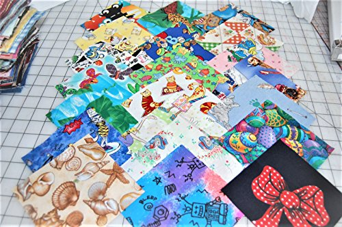 Lot of 100pcs quilt blocks, cotton fabric charm pack, 4