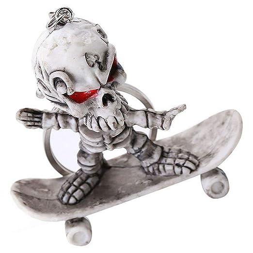 RETYLY Llavero con Forma de Esqueleto monopatín, Llavero ...