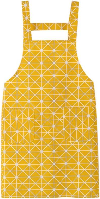 chytaii K/üchensch/ürze//Garten//Haushalt//Grill Sch/ürze Server Kaffee japanischen aus Baumwolle Polyester gelb
