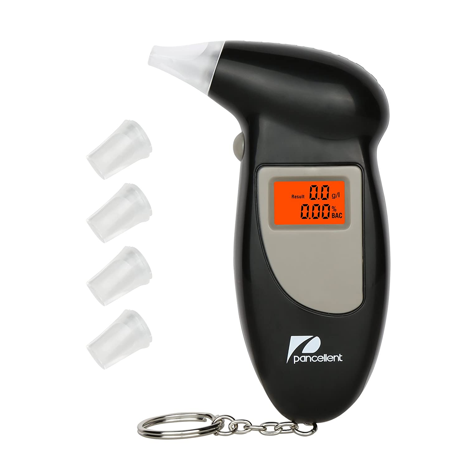 Pancellent Breathalyzer with LCD Display and 5 Mouthpieces Portable Alcohol Tester with Keychain definir la belleza