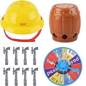 WAOving - Gorro de cabeza mojada con grifo y ruleta de agua, juego divertido desafío para niños: Amazon.es: Hogar