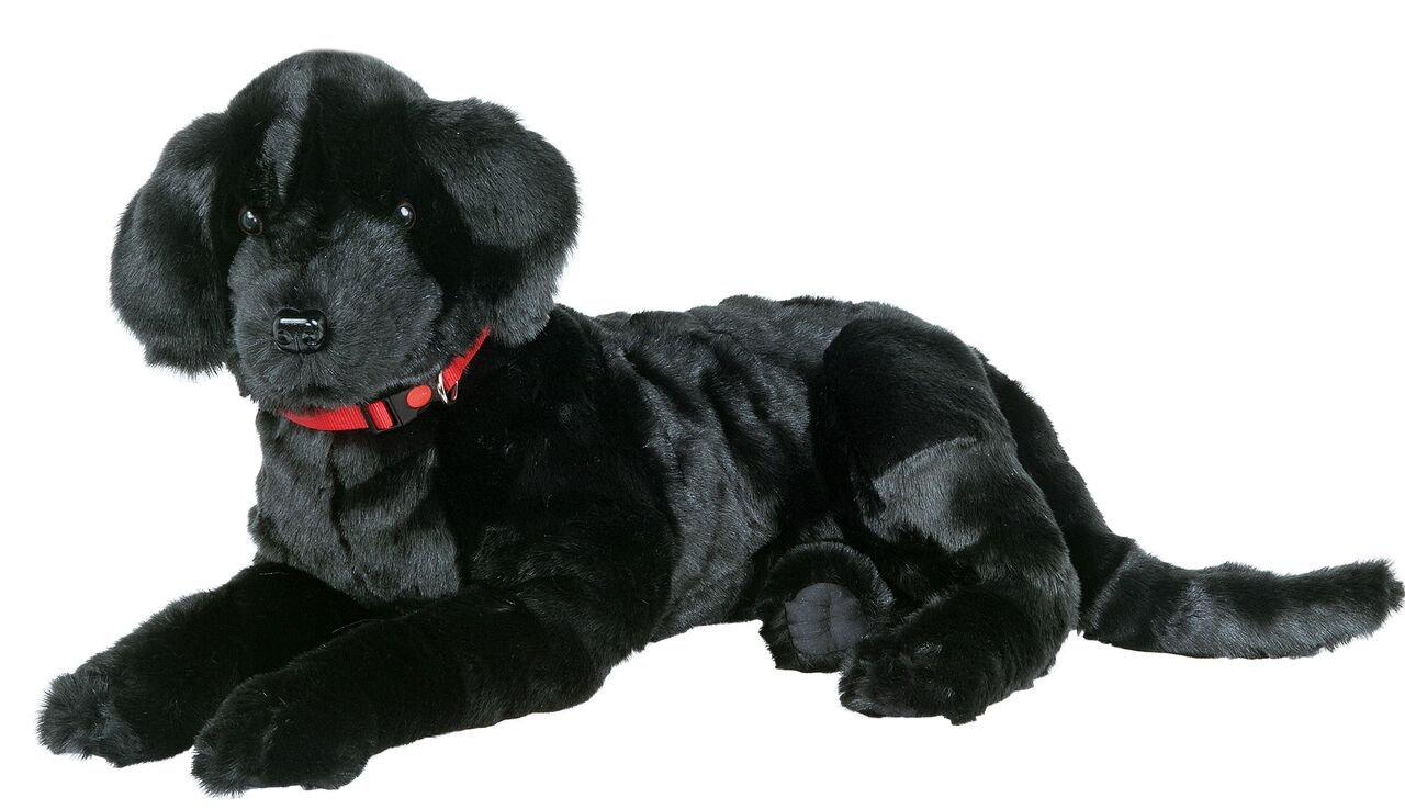 Ditz Designs Large Plush Realistic Stuffed Animal Pillow Black Lab Dog Hug