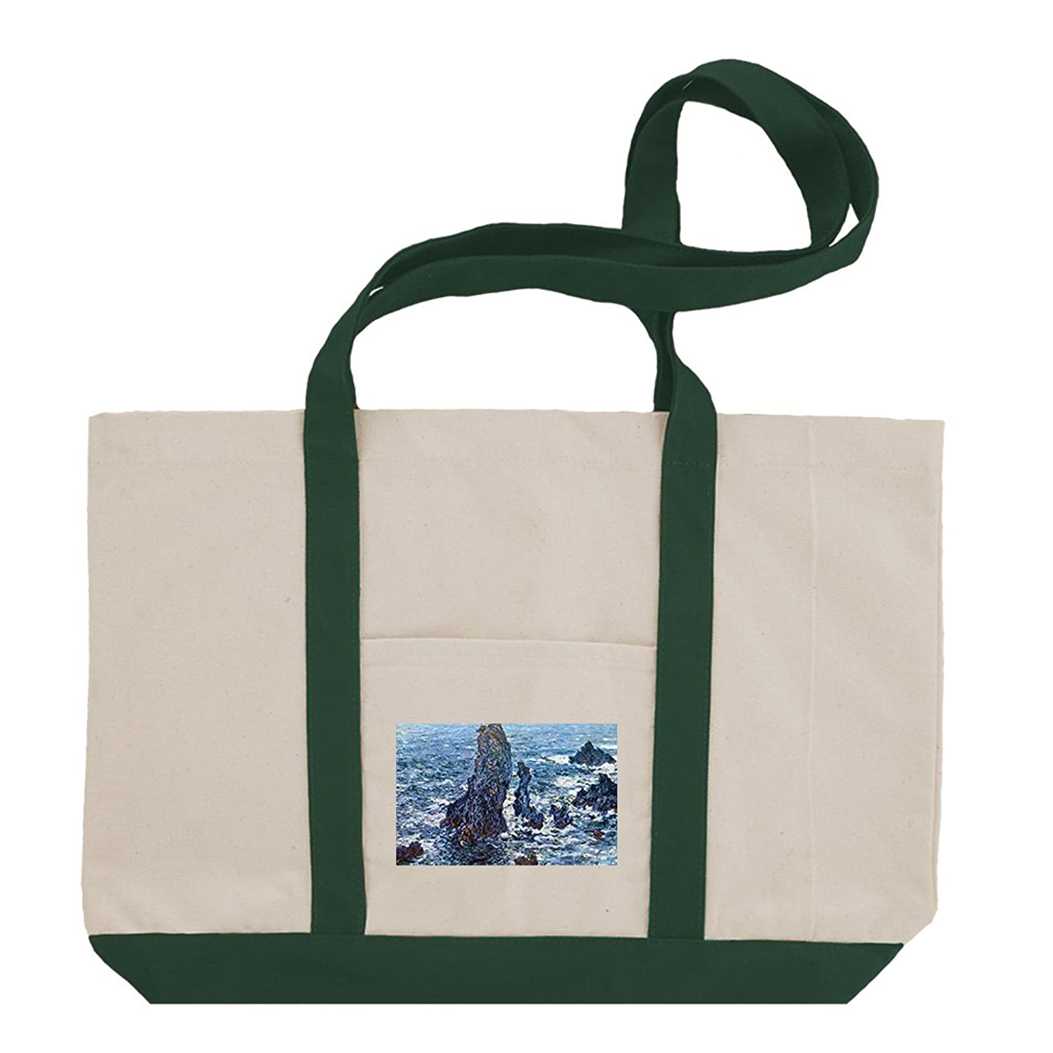Rue Mosnier With Flags (Manet) Cotton Canvas Boat Tote Bag Tote