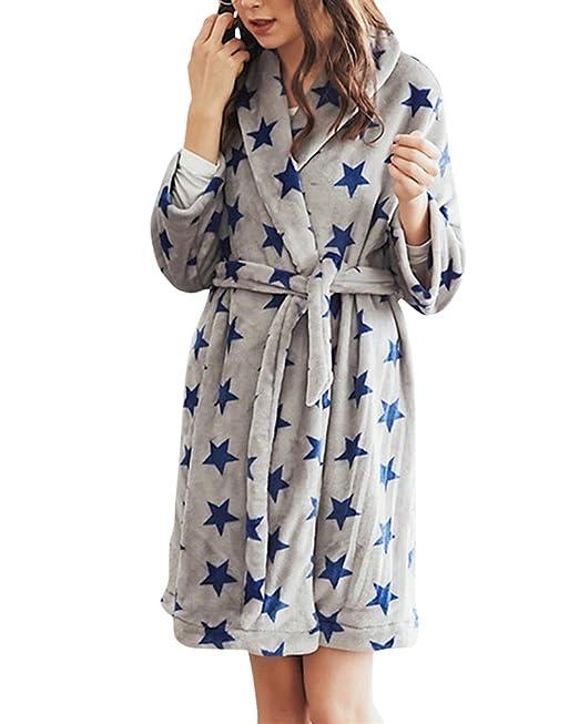 Pijama Camisón para Mujer Camisones Pijamas Ropa de Dormir Gris M