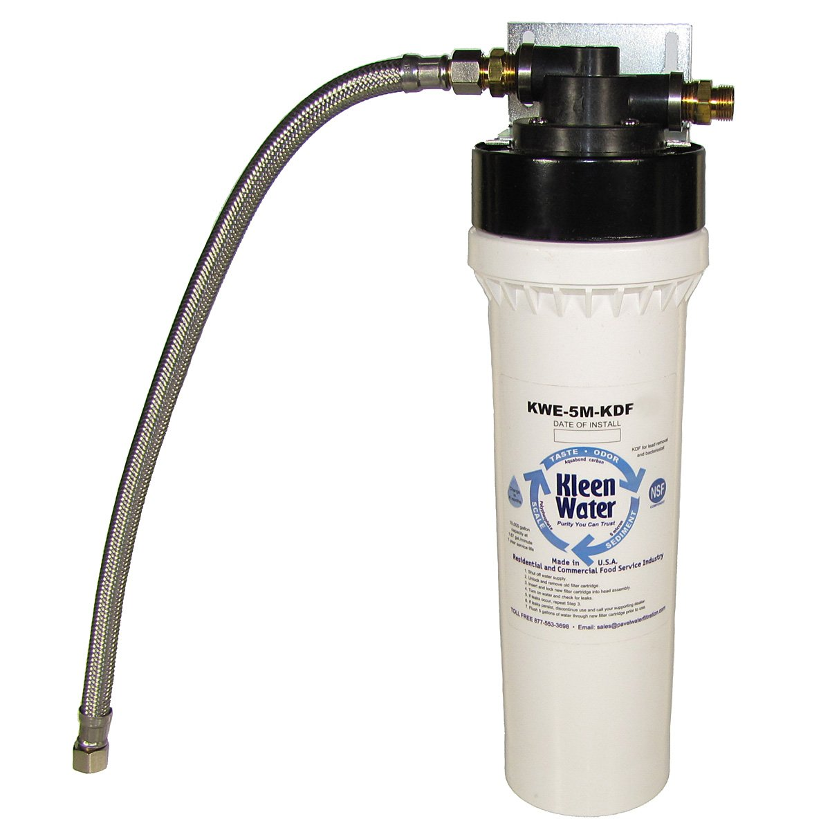 KleenWater Under Sink Filter System for Kitchen or Bathroom, Bottle Quality Drinking Water