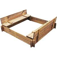 vidaXL Caja de Arena Cuadrada de Niños