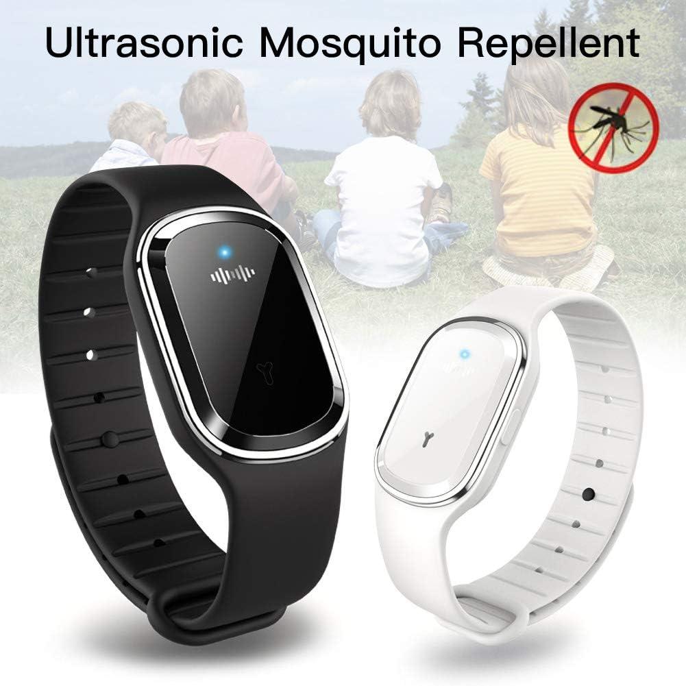 Bracelet Imperm/éable Anti-moustiques Anti-moustiques pour Les Adultes Et Les Enfants Romdink Bracelet Anti-Moustique /à Ultrasons Int/érieur//Ext/érieur