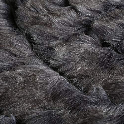 chic Manteaux festive grau mignonne fourrure mode débardeur pure fausse automne parfaite boutonnage fourrure chaud pour de manteau femmes veste hiver couleur exquise élégante veste rrqY7