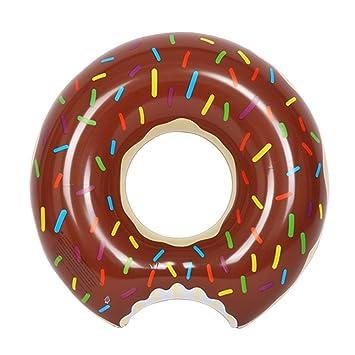 Flotador Inflable Fochea Flotador Donut 120cm Para Piscina Playa (L, Café): Amazon.es: Juguetes y juegos