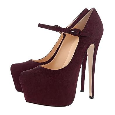 Women Fashion Platform Stiletto High Heels Ankle Straps Dress Party Pumps 5-15 US