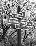 Lovers Lane - Personalized Print Includes Names and the Special Date - Perfect Wedding Gift for the Bride and Groom offers