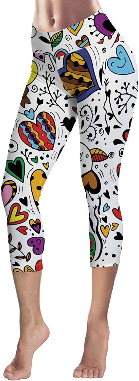 Custom Heart Symbol Yoga Pants Leggings for Women Stretchy Skinny Pants Cropped Trousers Leggings for Running Sports