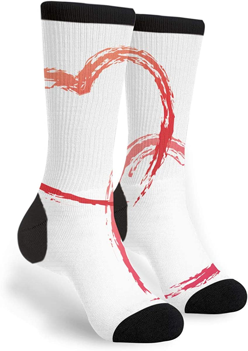 YISHOW Doodle Sketch For The Valentine Day Funny Crew Socks