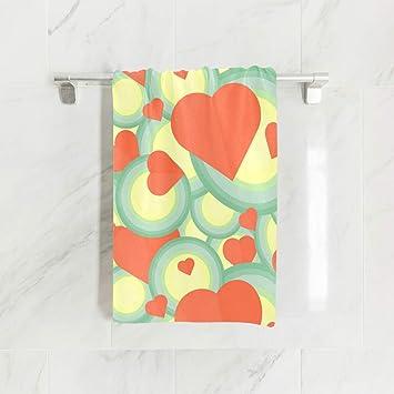 Ahomy Toallas de Mano, 38 cm x 76 cm, diseño geométrico de corazón,