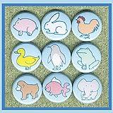 monkey chicken penguin - 9 Cookie Cutter Animals Pig, bunny, chicken, duck, penguin, frog, monkey, fish, elephant 1