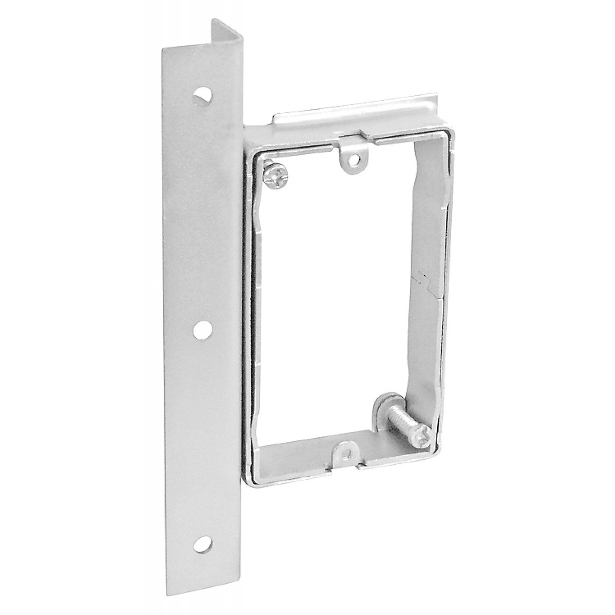 1 Pc, Zinc Plated Steel 4 Square One Gang Adjustable Depth Device Bracket For Stud Walls, 5/8 to 1-1/4 In. Raised