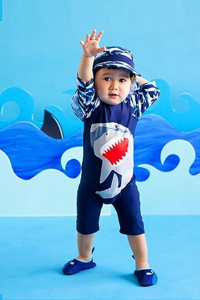Vaenait baby 56-80 Baby Badeanzug Infant Jungen Rashguard Swimwear Cooling Jaws Baby