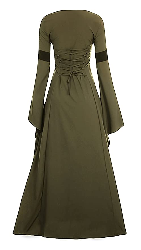 b7eb8131ac3 W Women Medieval Dress Renaissance Lace Up Vintage Style Gothic Dress Floor  Length Women Cosplay Dresses Retro Gown  Clothing