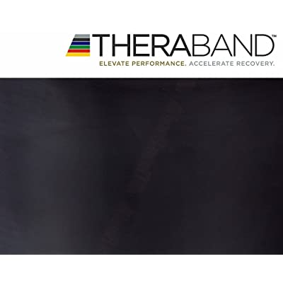 Thera-band bande d'exercice 2,5 m & emballage d'origine Noir