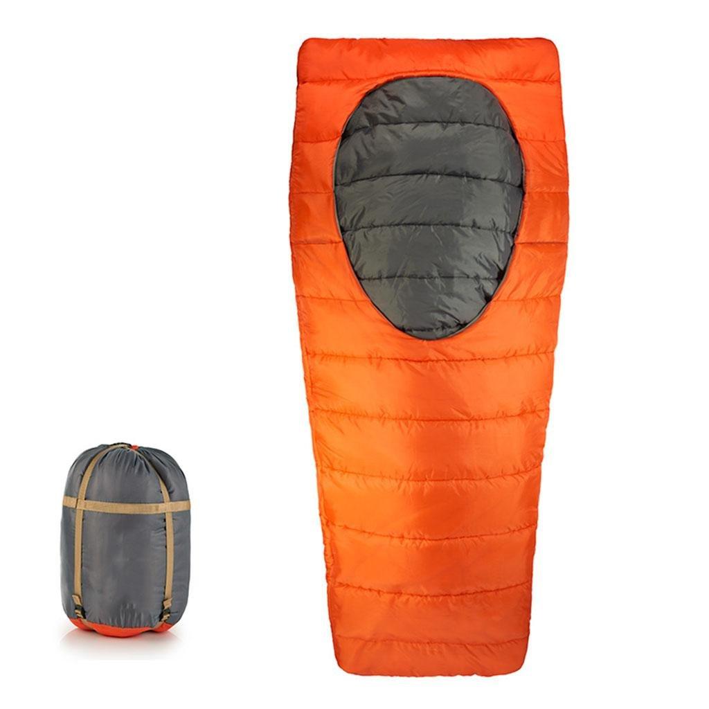 屋外の寝袋、冬の屋外綿の大人の寝袋中央の楕円形のオープニングキャンプ屋内のランチブレイク暖かい寝袋 B07B2SQSFX   blue