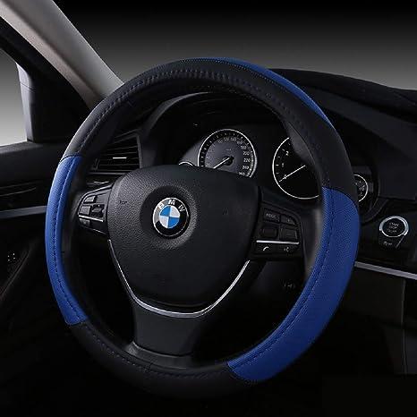 Amazon.com: SAN QING - Funda para volante de coche, piel ...