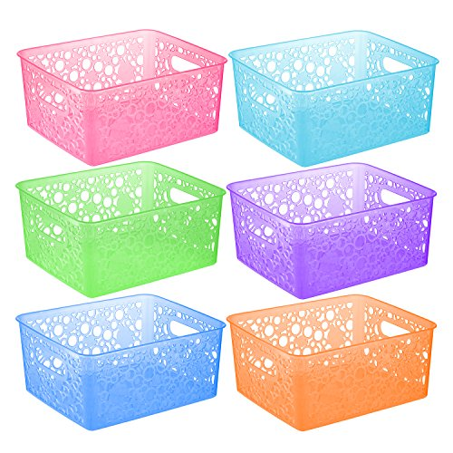 Organizer Baskets - Zilpoo 6 Pack - Plastic Colorful