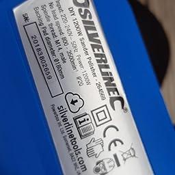 Silverline 1200 W 180mm Sander Buffer /& Pulidor 8pc Lijado Y Pulido Kit