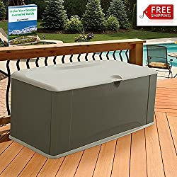 Outdoor Storage Containers For Deck With Lids Multifunctional Patio Storage Trunk Modern Box Brown Shed Garden Seat Furniture Yard Chest Poolside Cushion Storing Bistro Backyard And eBook By NAKSHOP
