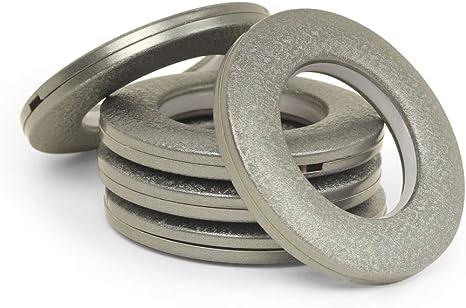 Silver landgoo Curtain Grommets 16 Pack Curtain Eyelet Rings 1-9//16 Inner Diameter Nanoscale Low Noise Roman Ring