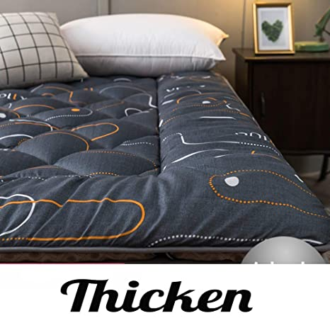 Amazon.com: Colchón de futón japonés, grueso, transpirable ...