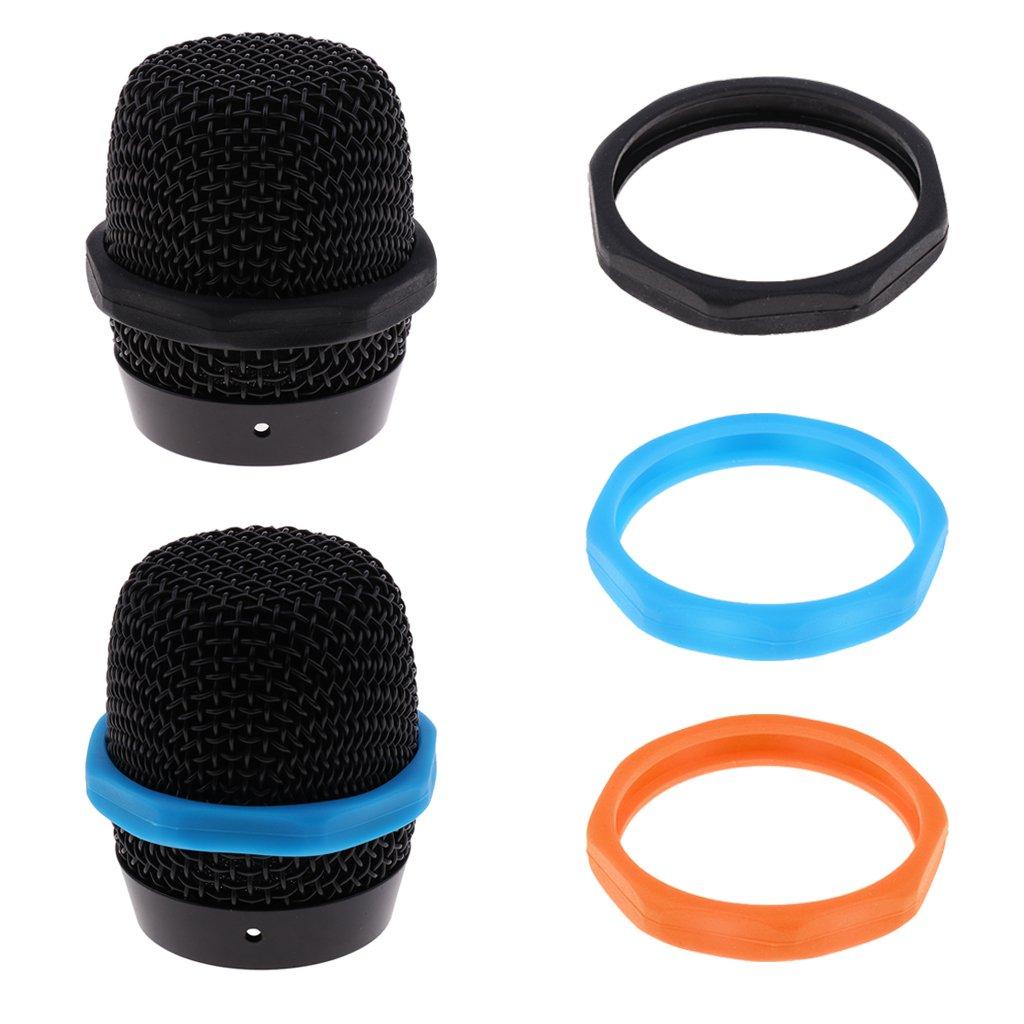 Nero come descritto 5pcs Microfono Antiscivolo Anello Di Protezione Dellanello Del Silicone Dellanello Di Protezione Antirollio