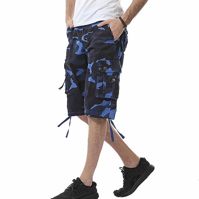 4f7d754e6e8 TieNew Bermudas Cargo Shorts Hombres Casual Pantalones Cortos de Camuflaje  Leisure, Camo Pantalones Cortos para Hombres Cargo Shorts Casual Bermudas  ...