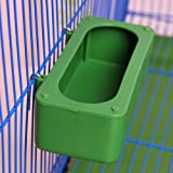 Bird Food Feeding Dish Water Seed Feeder Bowl with Holder Hook for Parrot Macaw African Grey Budgie Parakeet Cockatiel Conure Finch Cage