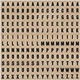 Elementary Alpha Chips by Tim Holtz Idea-ology, 1 x 3/4-Inch, Pack of 192 Pieces, Tan, TH93116