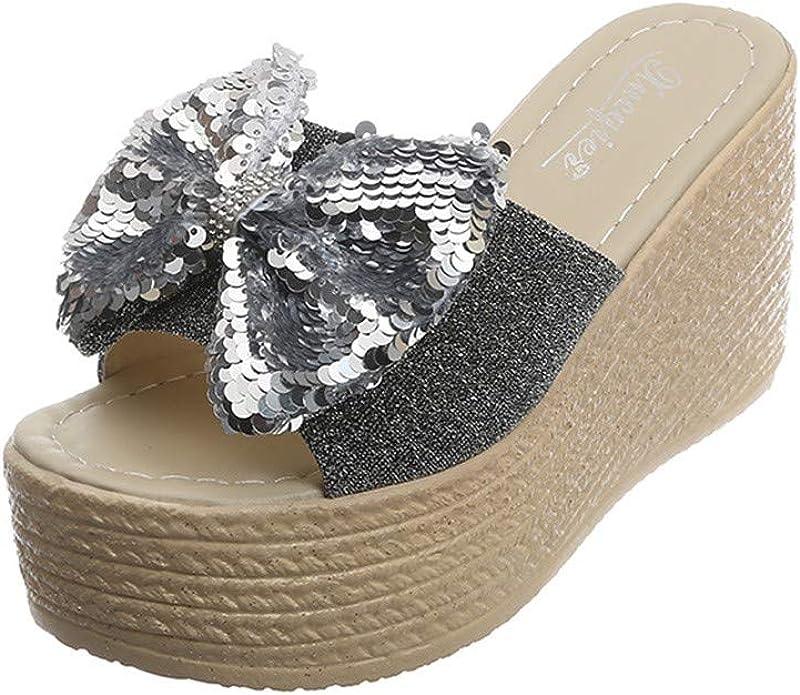 Sandalias de tacón Plano para Mujer, Piel contrachapada, Color ...