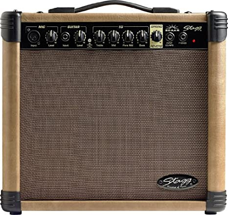Amplificador para guitarra acústica de 20 AA de R De EU Reverb 20 ...