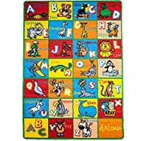 Kids Rugs ABC Alphabet Chart Fruits for Playorom and Nursery