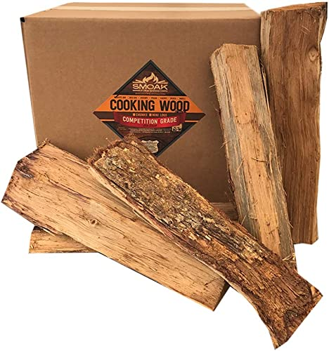 Smoak Firewood Cooking Wood Logs – USDA Certified Kiln Dried Maple, 16in Pieces 60-70lbs