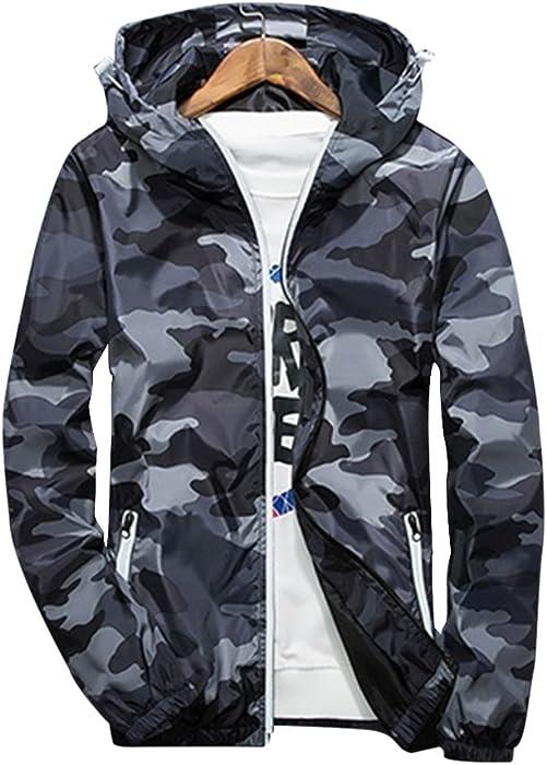 sale retailer c74e0 e2293 Rera Herren Frühling Dünne Camouflage Jacke Kapuzenjacke mit ...