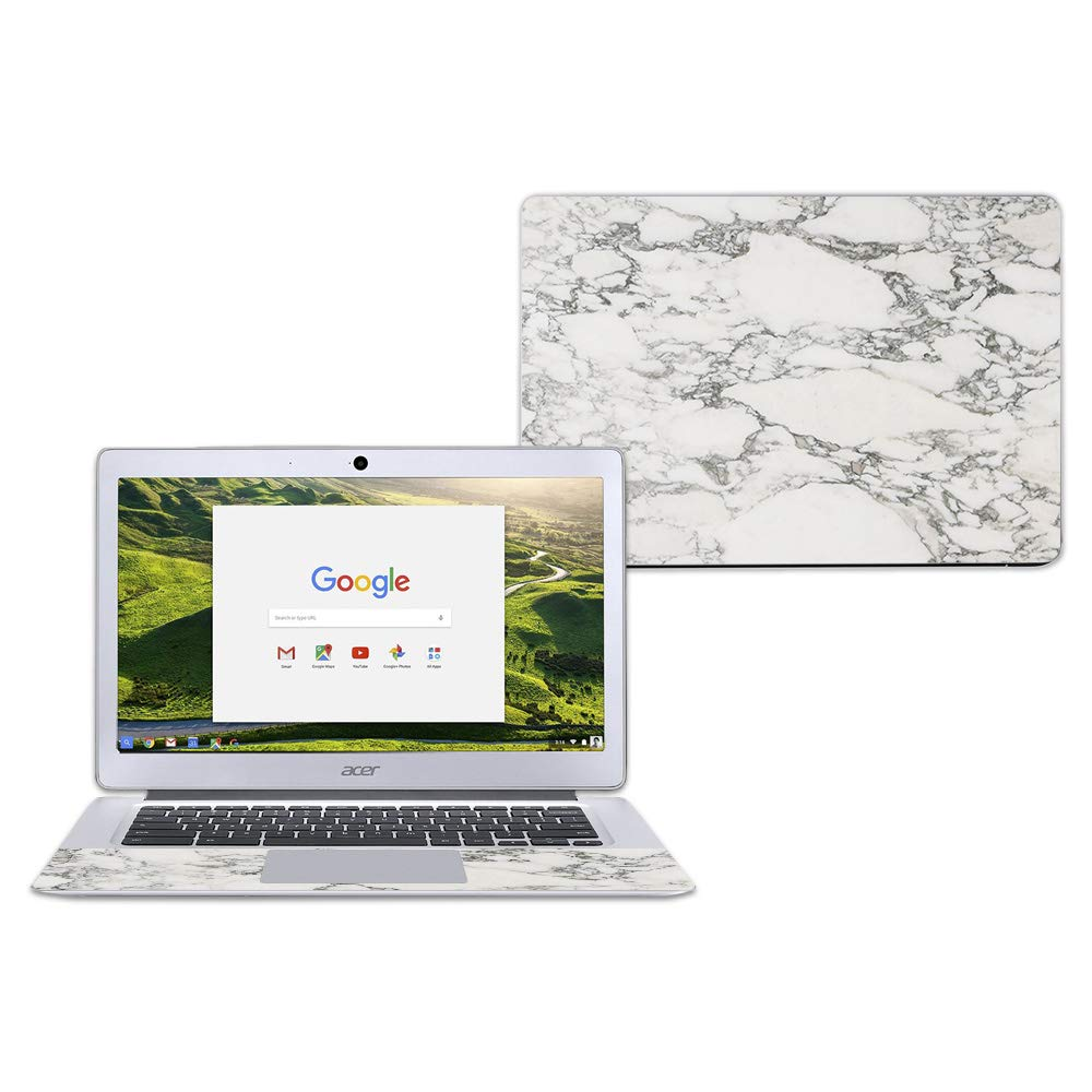 "MightySkins Skin for Acer Chromebook 14"" CB3-431 - White Marble 