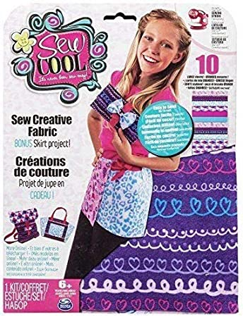 Sew Cool Creative Fabric Kit, Kits de Costura para Niños, Modelos Surtidos