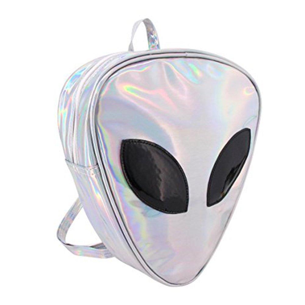 Alien Holographic Hologram Backpack Fashion Triangle Rucksack Casual Bag Satchel Handbag Tote Travel Bag