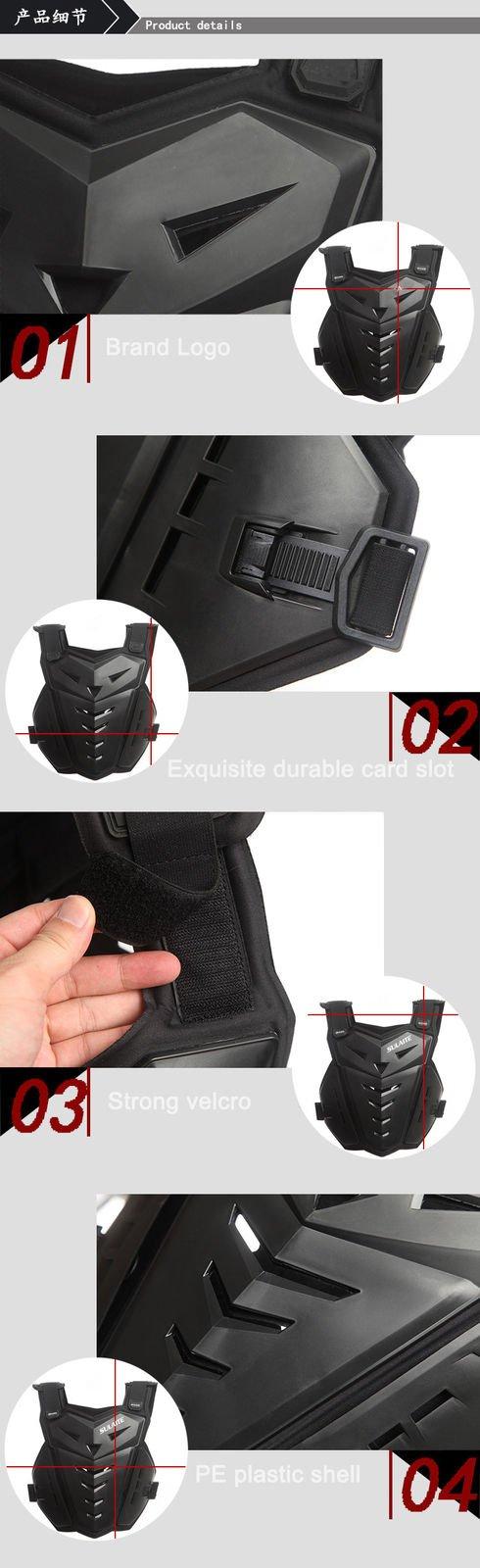 FidgetFidget Motorcycle Body Armor Back&Chest Protective Jacket Vest Skating Protection Guard