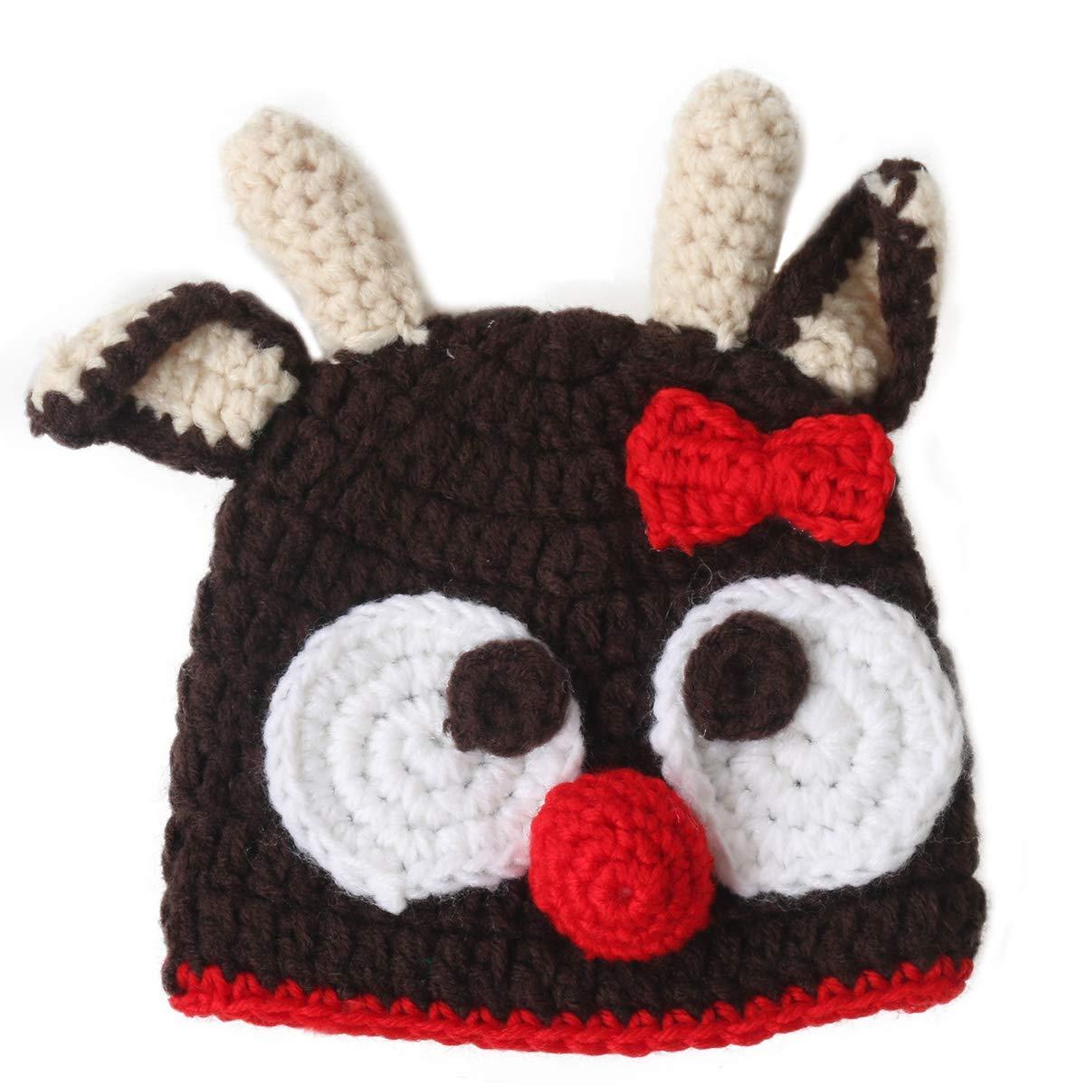 Ypser Baby Thanksgiving Christmas Beanie Turkey Knitted Cap Elk Hat Photo Prop YPSUSSN1052