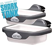 Saucemoto Dip Clip | An in-car sauce holder for ketchup and dipping sauces. As seen on Shark Tank (2 Pack, Gray)