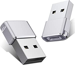 USB C Female to USB Male Adapter (2 Pack),Type C to USB A Charger Cable Adapter for iPhone 11 12 Pro Max,Airpods iPad,Samsung Galaxy Note 10 S20 Plus 20 S20+ 20+ Ultra,Google Pixel 5 4 4a 3 3A 2 XL