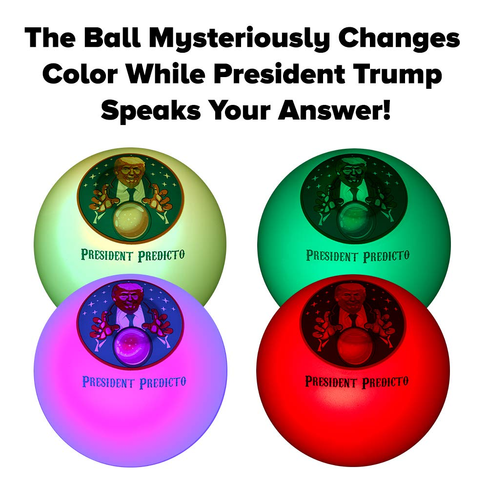 President Predicto - Donald Trump Fortune Teller Ball - The Greatest Way to Discover Your Future - Ask a YES or NO Question & Trump Speaks the Answer - Like a Next Generation Magic 8 Ball – Funny Gift by OUR FRIENDLY FOREST (Image #3)
