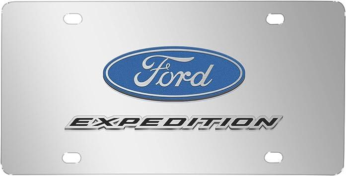 Ford Explorer 3D Dual Logo Black Stainless Steel License Plate