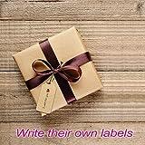 100PCS Gift Tags Kraft Paper Tag 33 Feet Natural