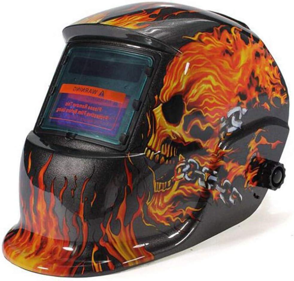 Máscara del soldador Casco de soldadura de protección contra la radiación con atenuación automática solar montado en la cabeza, resistente a altas temperaturas, seguro y no tóxico (color : A)